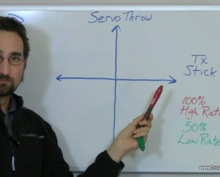 Graphing servo movement vs stick movement